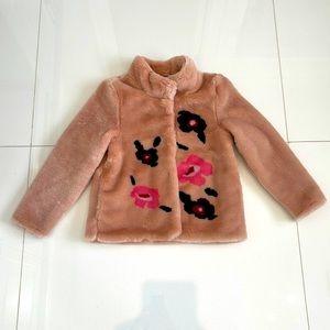 Brand New H&M Girls Faux Fur Coat